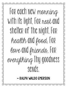 Ralph Waldo Emerson Quote Poster, Library Art