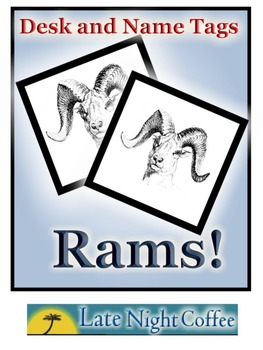 Ram Desk Tags and Name Tags rams