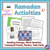 Ramadan Reading Passage, Task Cards, Puzzles & Posters (Di