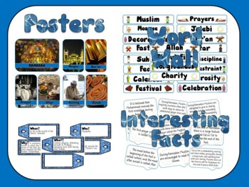 Ramadan Celebration Bundle - Posters, Word Wall, Student Workbook