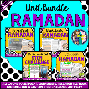 Ramadan Celebration Bundle: PowerPoint, Worksheets, Flipbook, Stem Activity