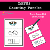 Ramadan Dates Color, Count, Dot and Arrange Activity