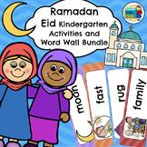 Ramadan Eid Kindergarten Activities and Word Wall Bundle