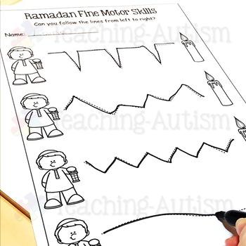 Ramadan Worksheets Fine Motor Skills