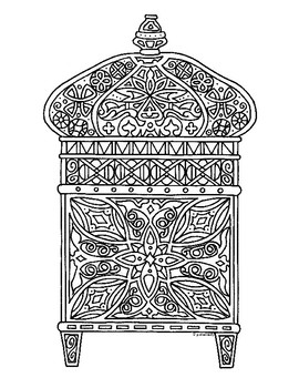 Eid Colouring Pages | 350x270