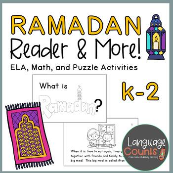 Ramadan Reader and Activities (ELA, Math, Puzzles)- Kindergarten, 1st, and 2nd