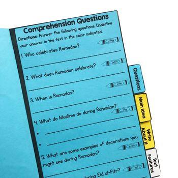 Ramadan Reading Comprehension Flip Book Activities- 2nd & 3rd grade