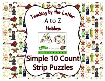 Ramadan ~ Teaching by the Letter Holiday Strip Number Puzzles