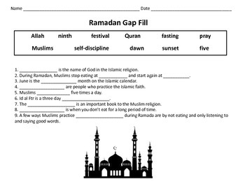 Ramadan: Word Search and Reading