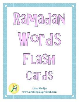 Ramadan Words Flash Cards