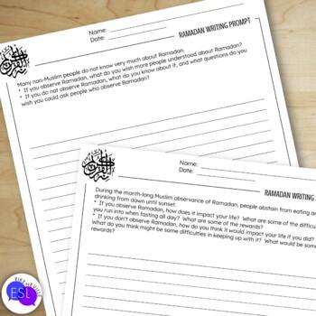 Ramadan Writing Prompts