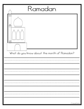 Ramadan and Eid al-Fitr Writing Prompts
