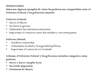 Ramas de Gobierno y Federalismo