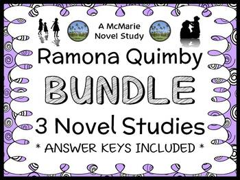 Ramona Quimby Bundle (Beverly Cleary) 3 Novel Studies / Reading Comprehension