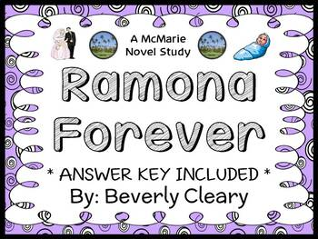 Ramona Forever (Beverly Cleary) Novel Study / Reading Comp