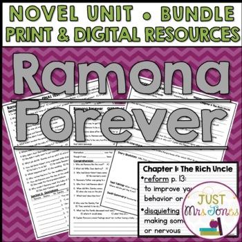 Ramona Forever Novel Unit