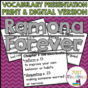 Ramona Forever Vocabulary Presentation