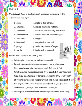Ramona Forever by Beverly Cleary ELA Novel Reading Study Guide