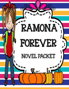 Ramona Forever Novel Study Unit