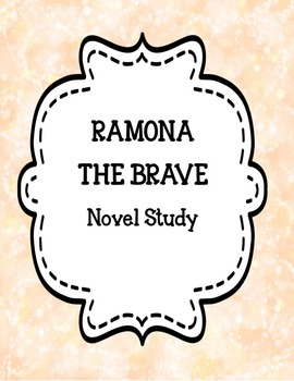 Ramona ( series one ) Novel Study Bundle One
