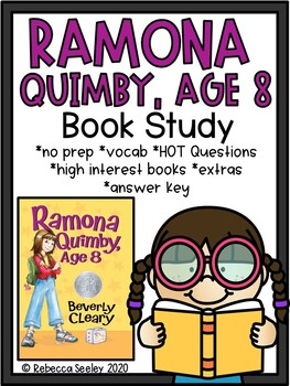Ramona Quimby, Age 8- A Comprehensive Book Study