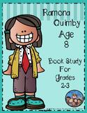 Ramona Quimby Age 8 Book Study