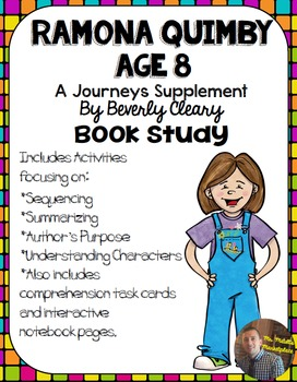Ramona Quimby, Age 8 Book Study (Excerpt ONLY) Organizers and NB Pages