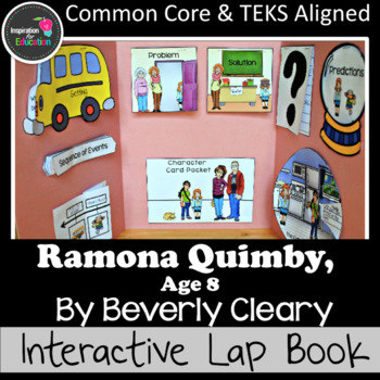 Ramona Quimby, Age 8 Interactive Novel Study: Interactive Notebook or Lap Book