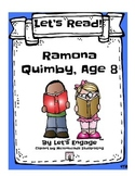 Ramona Quimby, Age 8: Let's Read!  (Reading Response Packe