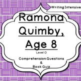 Ramona Quimby Age 8 Level O Comprehension Chapter Question