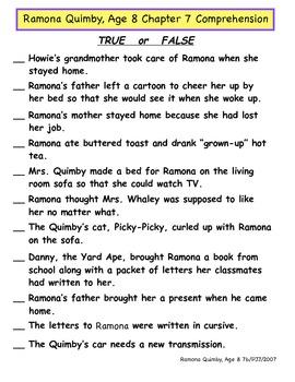 Ramona Quimby, Age 8 Literature Unit