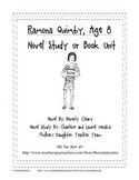 Ramona Quimby, Age 8- Novel Study, Chap. Qs, Quiz, Activities