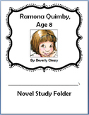 Ramona Quimby, Age 8 - Novel Study Packet, Chapter Response Sheets, Tests & More