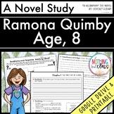 Ramona Quimby Age 8 Novel Study Unit