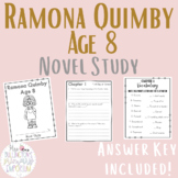 Ramona Quimby Age 8 Novel Study with Answer Key