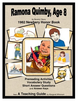 Ramona Quimby, Age 8  Prereading, Vocabulary Study, Short