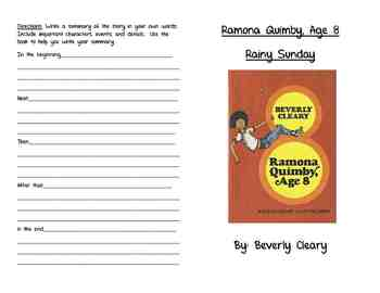Ramona Quimby, Age 8- Rainy Sunday Activity Booklet