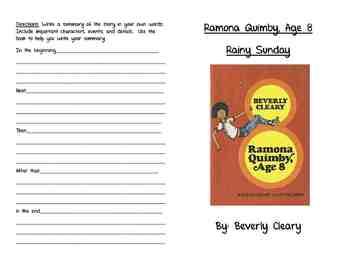 Ramona Quimby, Age 8- Rainy Sunday Activity Booklet