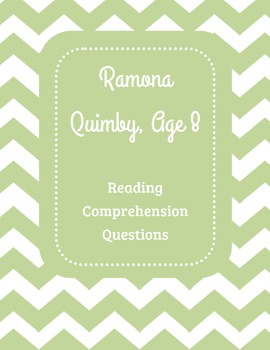 Ramona Quimby, Age 8 Reading Comprehension Questions