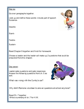 Ramona Quimby Age 8 Reading Group Activity Guide