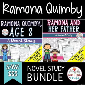 Ramona Quimby, Age 8 and Ramona and Her Father: Ramona Novel Study Bundle
