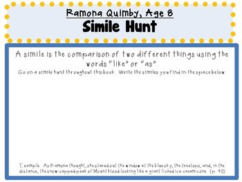 Ramona Quimby, Age 8 by Beverly Cleary:  A Complete Novel Study!