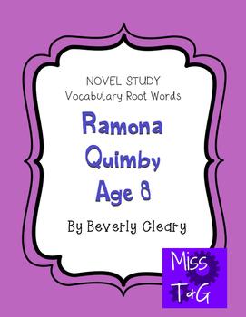 Ramona Quimby Novel Study/Vocabulary