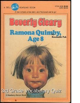 Ramona Quimby Vocabulary Quiz