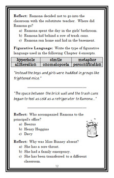 Ramona The Pest (Beverly Cleary) Novel Study / Reading Comprehension  (29 pages)
