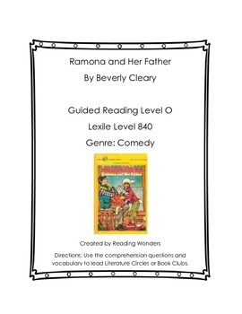 Ramona and Her Father Book Club