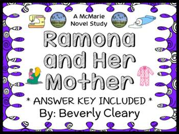 Ramona and Her Mother (Beverly Cleary) Novel Study / Reading Comprehension