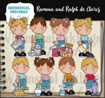 Ramona and Ralph Do Chores Clipart Collection