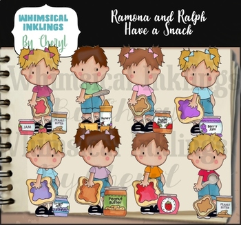 Ramona and Ralph Have A Snack Clipart Collection