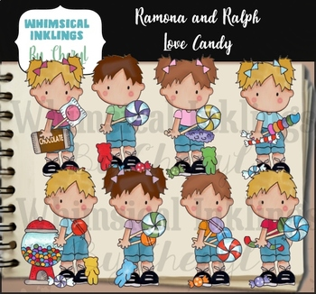 Ramona and Ralph Love Candy Clipart Collection